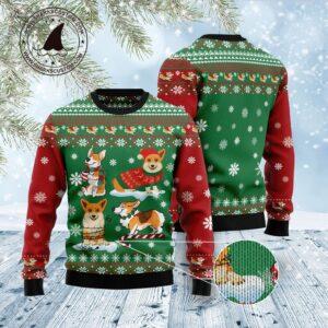 Corgi Snow Day Ugly Christmas Sweater