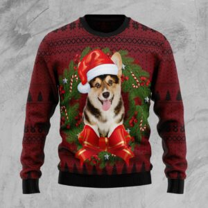 Corgi Wreath Ugly Christmas Sweater