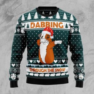 Dabbing Through The Snow Guinea Pig Ugly Christmas Sweater