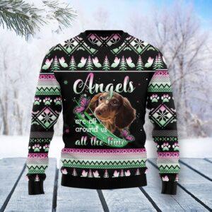 Dachshund Angel Ugly Christmas Sweater