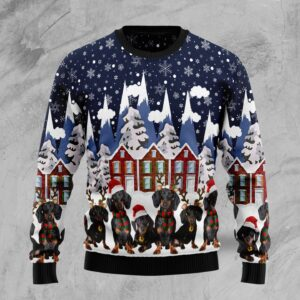Dachshund Family Ugly Christmas Sweater