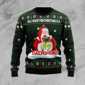 Dachshund Gift Ugly Christmas Sweater