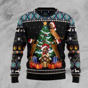 Dachshund Group Christmas Tree Ugly Christmas Sweater