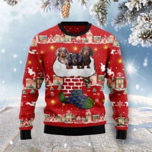 Dachshund Light Up Ugly Christmas Sweater