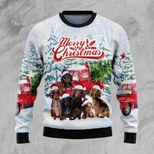 Dachshund Merry Christmas Ugly Christmas Sweater