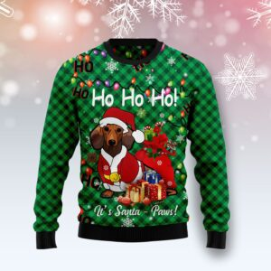 Dachshund Santa Paw Ugly Christmas Sweater