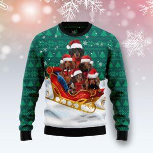 Dachshund Snow Ugly Christmas Sweater