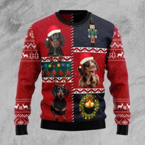 Dachshund Vintage Ugly Christmas Sweater