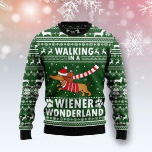 Dachshund Weiner Wonderland Ugly Christmas Sweater