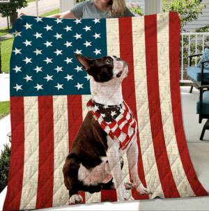 Dog Ft American Flag Quilt