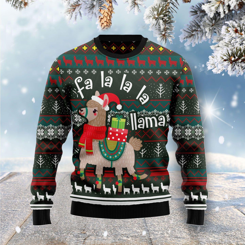 Fa La La La Llama Ugly Christmas Sweater