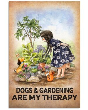 Farmer Dogs And Gardening Are My Therapy Poster