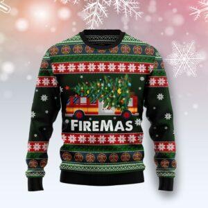 Firefighter Firemas Ugly Christmas Sweater
