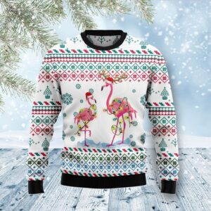 Flamingo Christmas Reunion Ugly Christmas Sweater