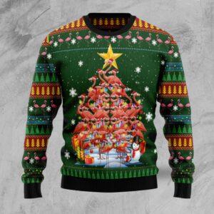 Flamingo Christmas Tree  Ugly Christmas Sweater