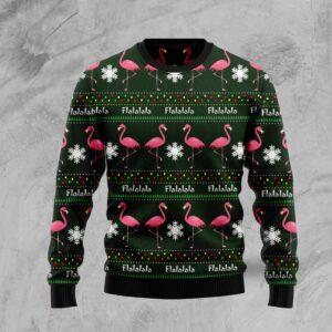 Flamingo Flalala Ugly Christmas Sweater