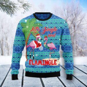 Flamingo Let's Jingle Ugly Christmas Sweater