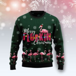 Flamingo Merry Flockin Christmas Ugly Christmas Sweater