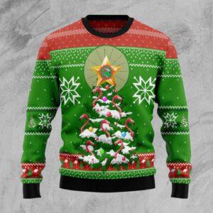 Flamingo Pine Tree Ugly Christmas Sweater
