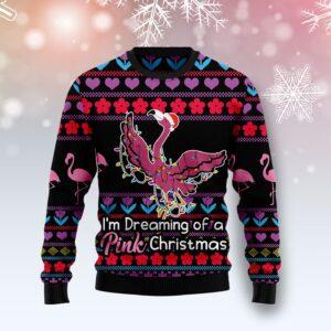 Flamingo Pink Christmas Ugly Christmas Sweater