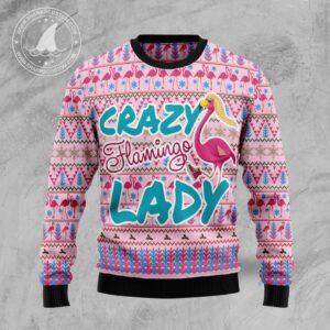 Flamingo Pink Flamingo Lady Ugly Christmas Sweater