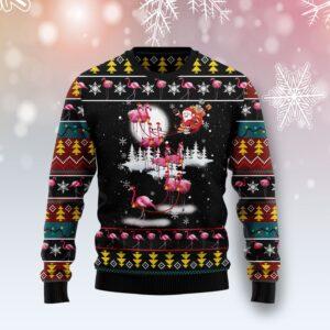 Flamingo Reindeer Ugly Christmas Sweater