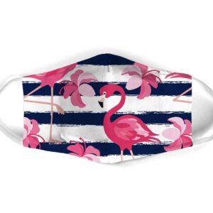 Flamingo Striped All Face Mask