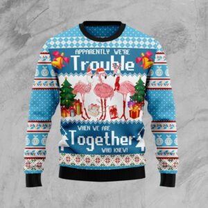 Flamingo Together Ugly Christmas Sweater