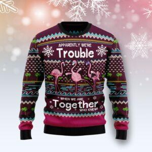 Flamingo Trouble Ugly Christmas Sweater