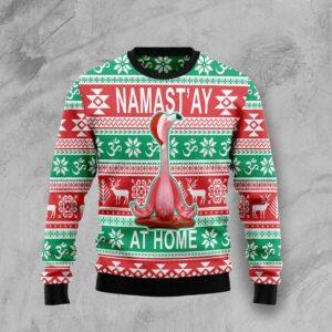 Flamingo Yoga Christmas Ugly Christmas Sweater