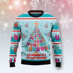 Flip Flops Christmas Tree Ugly Christmas Sweater
