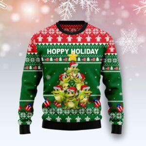 Frog Christmas Tree Ugly Christmas Sweater