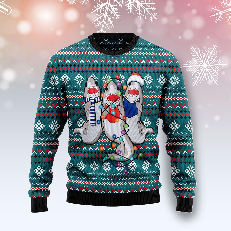 Funny Shark Ugly Christmas Sweater