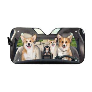 GearhumanD Family Corgi Dogs Custom Car Car Sunshade