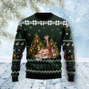 Giraffe Holiday Ugly Christmas Sweater