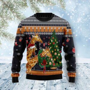 Giraffe Love Christmas Ugly Christmas Sweater