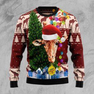 Giraffe Xmas Ugly Christmas Sweater