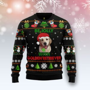 Golden Retriever Be Jolly Ugly Christmas Sweater