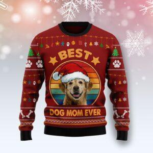 Golden Retriever Best Dog Mom Ever Ugly Christmas Sweater