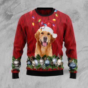 Golden Retriever Christmas Beauty Ugly Christmas Sweater