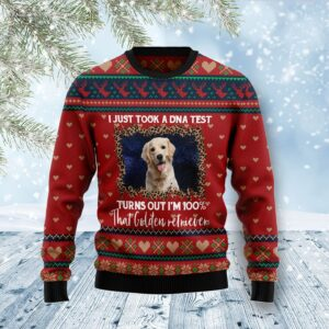 Golden Retriever DNA Ugly Christmas Sweater