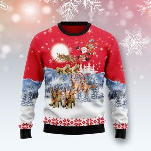 Golden Retriever Santa Claus Ugly Christmas Sweater