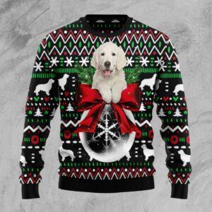 Golden Retriever Xmas Ball Ugly Christmas Sweater
