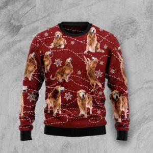 Golden Retriever Xmas Ugly Christmas Sweater