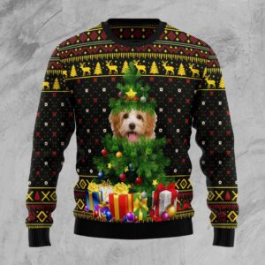 Goldendoodle Pine Ugly Christmas Sweater