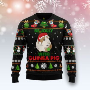 Guinea Pig Be Jolly Ugly Christmas Sweater