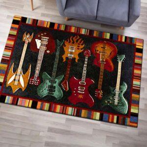 Guitar Music Area Rug