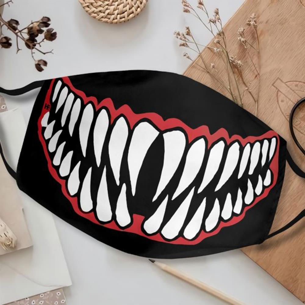 Halloween Scary Mouth Face Mask