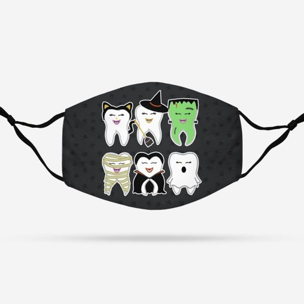 Halloween Teeth For Dentist Face Mask