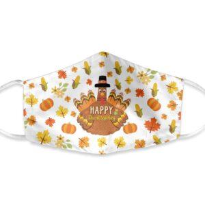 Happy Thanksgiving Turkey Face Mask